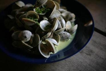Pat Woodbury's Wellfleet clams.